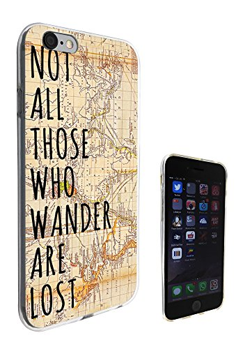 Map 5c World Iphone-hülle (441 - Vitage World Map Not all Those Wonder Are Lost Design iphone 5 5S Fashion Trend Silikon Hülle Schutzhülle Schutzcase Gel Rubber Silicone Hülle)