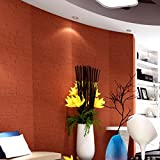 Wandaufkleber Yesmile,3D Wallpaper DIY Wandaufkleber Dekor Ziegelstein PVC Verdicht Wandtattoo 60X60CM (Rot)