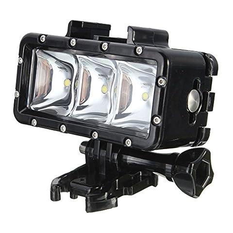 TOOGOO(R)300LM 2.8W 30M Lumiere sous-marine etanche LED Video Lampe pour GoPro / SJCAM