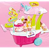 Vivir High Quality Ice Cream And Candy Cart / Sweet Shop Cart With Lights And Music Pretend Play Role Playing Toys For Kids ( Toys For 3 Year Old Boy And Girl )