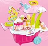 #9: Vivir High Quality Ice Cream and Candy Cart / Sweet Shop Cart with Lights and Music Pretend Play Role Playing Toys for Kids ( Toys for 3 Year Old Boy and Girl )