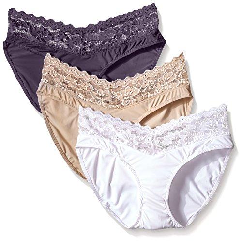 Ahh By Rhonda Shear Damen-Slip, Cupcake-Design, Spitze, 3 Stück - Mehrfarbig - Mittel -