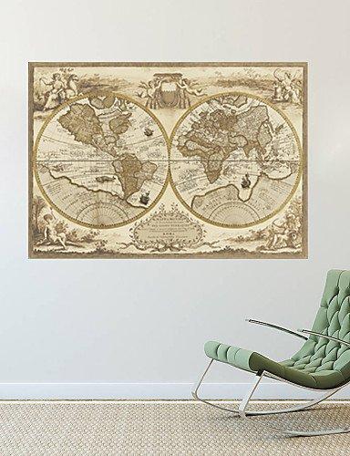 Mapa del mundo de estilo Retro pared dodoskinz