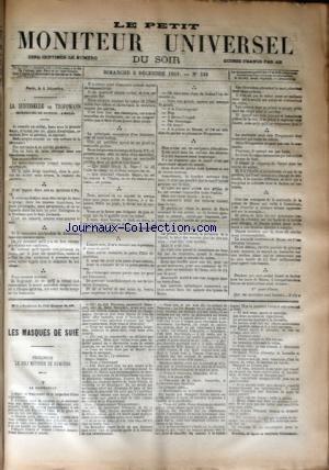 PETIT MONITEUR UNIVERSEL DU SOIR (LE) [No 338] du 05/12/1869 - DERNIERES NOUVELLES - CHRONIQUE - LA SENTINELLE DE TROPPMANN