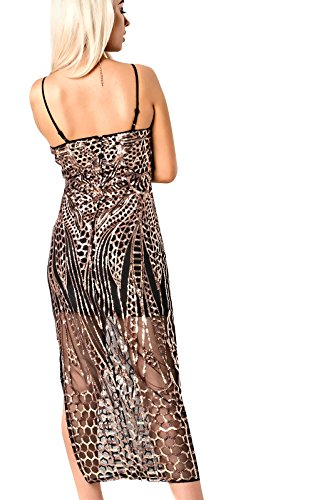 Women's Ladies Stunning Embellished Party Evening Dress Black