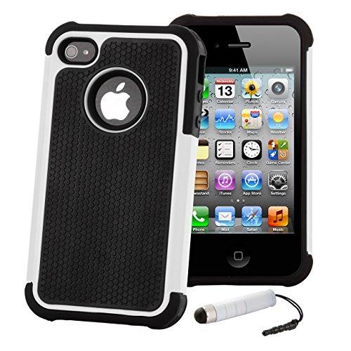 32nd Funda Rígida Anti-Choques de Alta Proteccion para Apple iPhone 4 4S Carcasa Defensora de Doble...