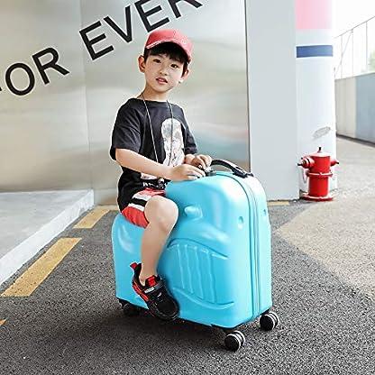 LHY-EQUIPMENT-Ride-on-Kinderkoffer-Rollenkoffer-Kindergepck-24-Zoll-Reibungsloses-Drcken-und-Ziehen-Druck-Kratzfest-Universal-Rad-Reisegepck