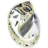 Aatmiya Ganpati Shape Handmade Meenakari Haldi Kumkum Box/Tilak Box For Gift/Rakhi/Puja/Diwali/Festivals/Wedding(14 Kum Kum Box)