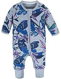 606e4c1ed695 BIG ELEPHANT Baby Girls 1 Piece Long Sleeve Pajama Graphic Print Zipper  Romper Style I