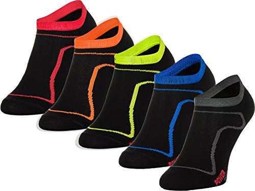 Freenord Funktionssocken Thermo Socken 5 PAK Radsport Running Fitness (5 PACK shwarz, 43-46)