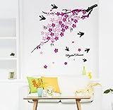 Wandaufkleber Hauptzweig Vogel Wandaufkleber, Wohnzimmer TV Hintergrund Wanddekoration Wandaufkleber 80 × 120 cm