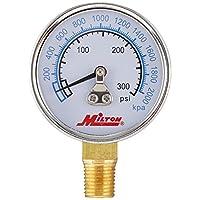 """مقياس ضغط عالٍ من ميلتون 1195 1/4"""" NPT"""