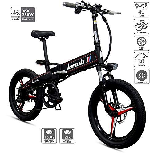 "FJW 14\"" Mini Electric Bikes Mode und intelligentes elektronisches Fahrzeug Unisex Faltrad Roller Elektromobilität Faltbares & tragbares elektrisches Fahrrad,Black"