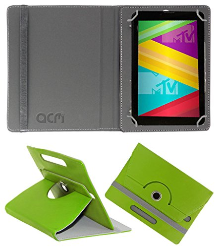 Acm Rotating 360° Leather Flip Case for Swipe Mtv Slash 4x Cover Stand Green  available at amazon for Rs.149