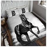 Gaveno Cavailia Superweiche Kunstfell-Fleece-Decke, Tagesdecke, 3D Tierdruck, Bär, Polyester, Schwarz, 150x200 Cm