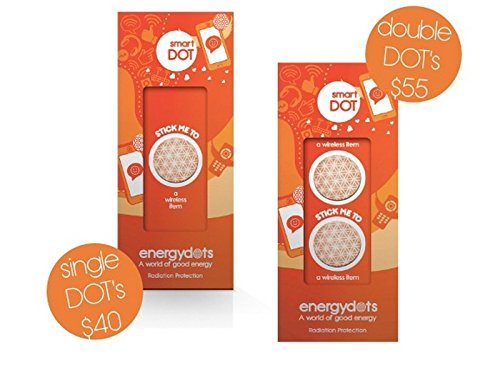Energydots smartDOT Double Pack, radiation protection and harmonizing energy dots. Powerful EMF protection for mobiles, wireless, PC etc. Retune energy emissions from any device