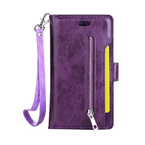 Kompatibel mit Galaxy A5 2017 Leder Tasche Brieftasche Flip Wallet Schutzhülle,Vintage PU Kunstleder Handytasche Handyhülle Flip Cover mit Magnetverschluss und Kartenfach für Galaxy A5 2017
