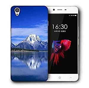 Snoogg White Mountain And Sea Printed Protective Phone Back Case Cover For OnePlus X / 1+X