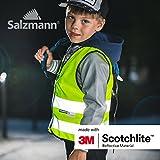 Salzmann 3M Warnweste für Kinder mit Reißverschluss