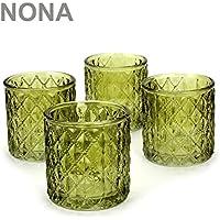 Kerzenglas Teelichthalter Teelichtglas 24 Teelichtgläser