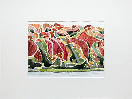 Original-Aquarell Gemälde von Thorsten Otto, 'Herbst am See' (17 x 23 cm)