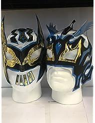 Blanco The Lucha Dragons para Niños con cremallera lucha libre máscaras (ambas incluido)