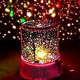 Favsonhome Baby Nachtlicht für Kinder, Eidechsensternen-Nachtlicht, rotierender Mond Sterne, Projektor, Bunte romantische Nachtbeleuchtung, USB-Kabel/Batterien für Kinderzimmer, Schlafzimmer