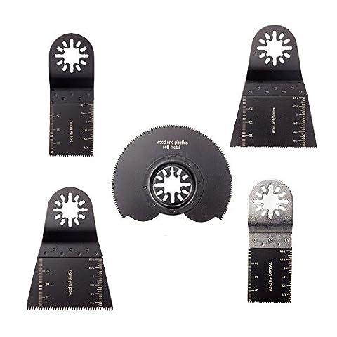 LANIAKEA 5 Pcs Oscillating Multitool Blades for Fein Multimaster Bosch Black and Decker Chicago Craftsman Bolt-on