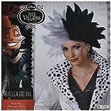 Disney Disguise Women's 101 Dalmatians Cruella De Vil Deluxe Adult Costume Wig, Black/White, One Size