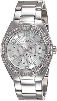 Guess  W0729L1 - Reloj de lujo para mujer, color plateado