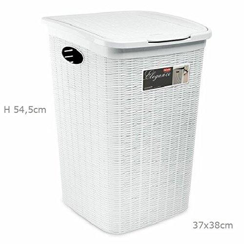 Lavandería efecto cesta mimbre para baño 50Lt...