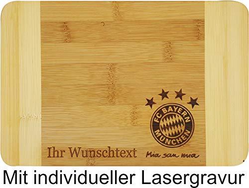 Ihre persönliche Gravur auf dem FC Bayern Brotzeitbrett