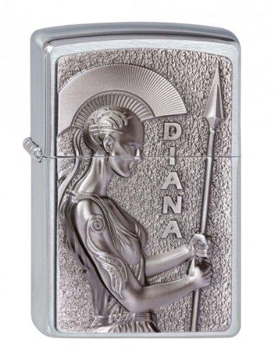 zippo-briquet-diana-goddess-of-the-hunt-3-d-embleme-chrome