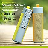 Mobhada Multifunctional Bluetooth Speaker Selfie Stick with Portable Power Bank, Wireless Self Timer