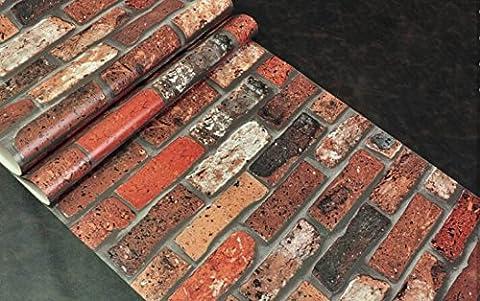 GLF Modèle 3D Mur De Briques Antique Brique Brique Restaurant Chinois Toile De Fond De Papier Peint Rétro Nostalgique Large 53cm * 1000cm,2