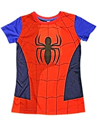 Spider-Man Childrens T-Shirt Official Marvel Avengers Kids Costume Clothing (4-5 Years, Spider-Man)