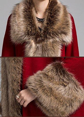 Charmly Damen Mantel One size Dunkelrot