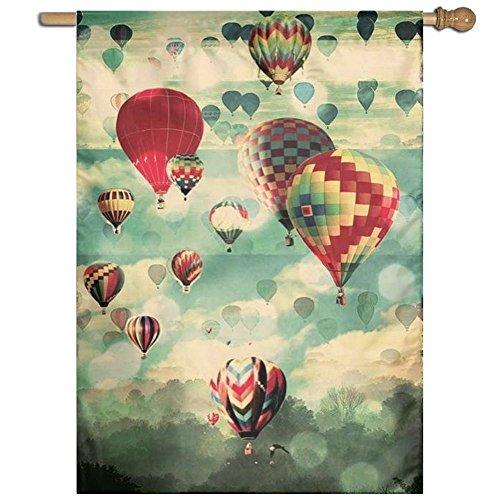 (DFGTLY Fashion Home Garden Flag Colorful Ballon Garden Flag 27