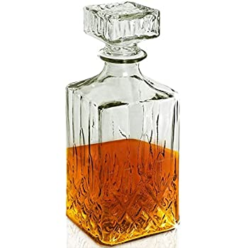 Karaffe Flasche Whiskykaraffe Cognacflasche Glaskaraffe Whisky Dekanter 0,5 L