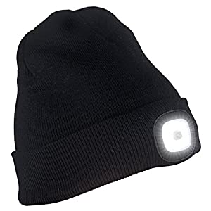 51eKtz9PXPL. SS300  - TAGVO USB Rechargeable LED Beanie Cap, Lighting and Flashing Alarm Modes 8 LED Hands Free Flashlight