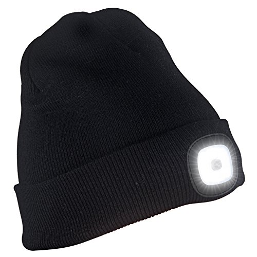 51eKtz9PXPL. SS500  - TAGVO USB Rechargeable LED Beanie Cap, Lighting and Flashing Alarm Modes 8 LED Hands Free Flashlight, Easy Install Quick…