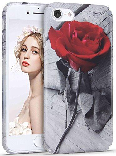 iPhone 7 Hülle,iPhone 8 Hülle,Imikoko® iPhone 7/8 Elegant Protective Schützend Stoßfest Case Back Cover Blumenmuster Hart PC Hülle Retro Floral Series Mode Design Anti Staub Kratzer Handyhülle für iPh Farbe 10