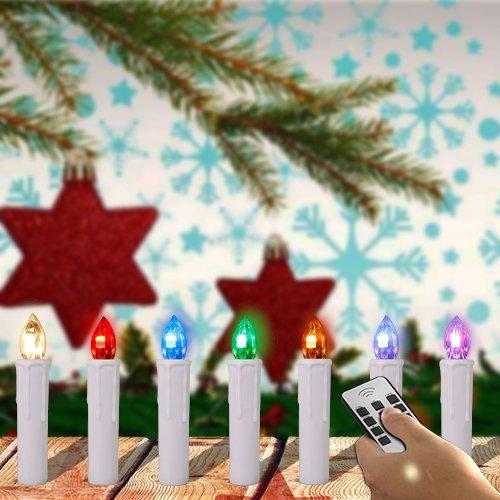 SPEED 30 x Led Luz Velas para árboles Navidad Inalámbrico Vela RGB Blanco Cubrir