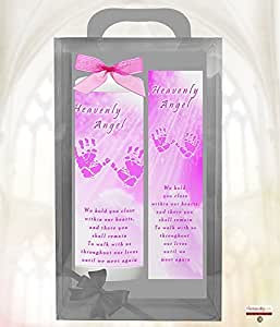Rose 1000heures Heavenly Angel Bougie en cire à LED avec verset spécial; nous vous maintenir Fermer dans nos cœurs, et il vous Shall Base.