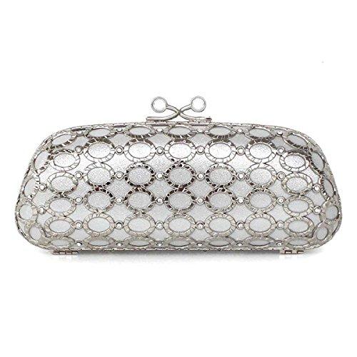Brillante Il Sacchetto Del Pranzo Di Diamanti Ragazza Sacchetto Del Telefono Nuova Ragazza Silver