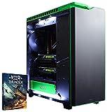 Vibox VBX-PC-5896 Legend 32 Gaming Desktop-PC (Intel Core i7 5960X, 32GB RAM, 3240GB HDD, NVIDIA Geforce GTX 980 Ti SLI, Win 10 Home) grün