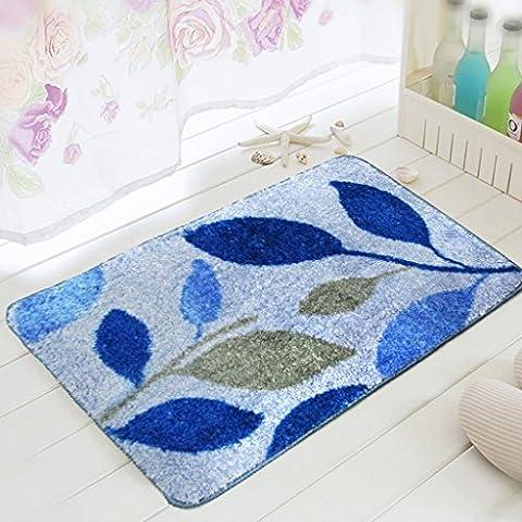 MOREY Cuarto de baño Alfombra antideslizante Cojín de cocina de colchón absorbente de agua Colchón largo de colchón Puerta sanitaria ( Color : Azul )