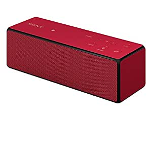Sony SRS-X33 Speaker Wireless Portatile, Potenza 20W, Bluetooth, NFC, Rosso