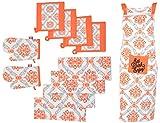 Elite Home Damask Printed Kitchen Linen ...