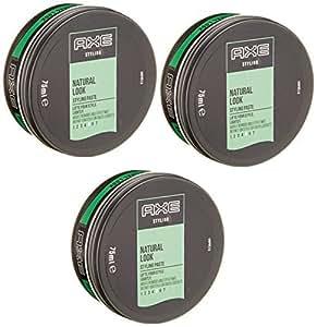 Axe Natural Gel Cheveux Argile Remodelable Effet Mat Black [No. 5] Pot 75ml - Lot de 3
